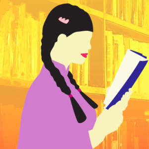 Image Of Girl With Braids Reading A Book